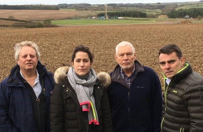 Victoria Atkins MP at Biscathorpe drilling site