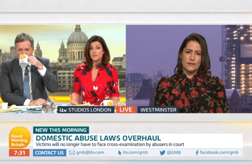 Victoria Atkins discussing the landmark Domestic Abuse draft bill