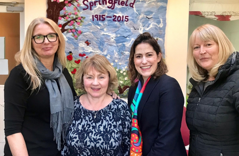 Victoria Atkins MP visits Springfield domestic violence refuge