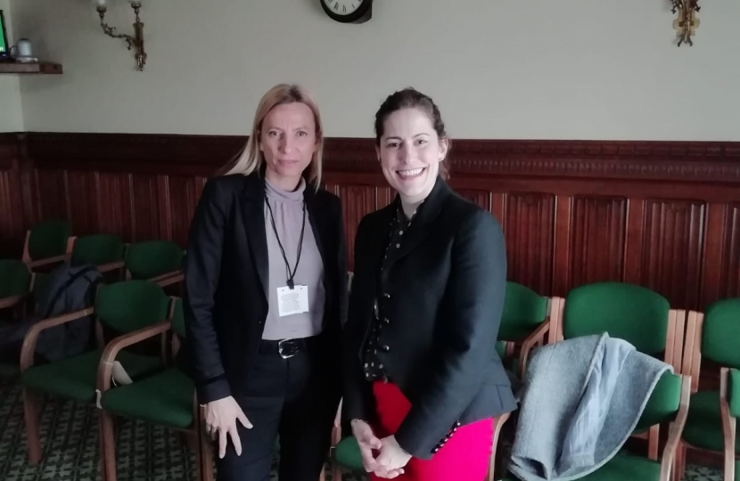 UK Government Minister for Women, VIctoria Atkins, meets Austrian minister for women Julia Bogner-Strauss