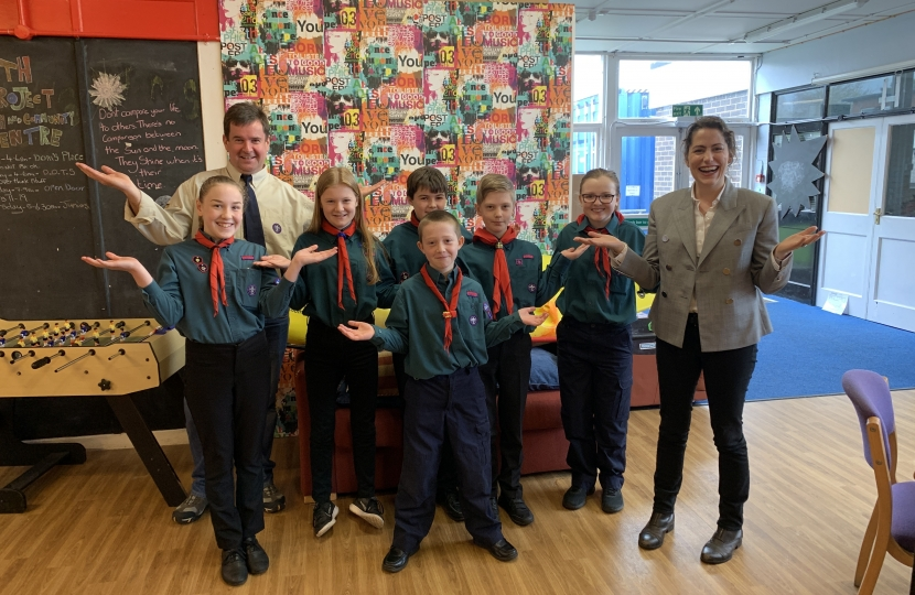 Victoria Atkins MP promotes #BalanceforBetter with Louth Scouts