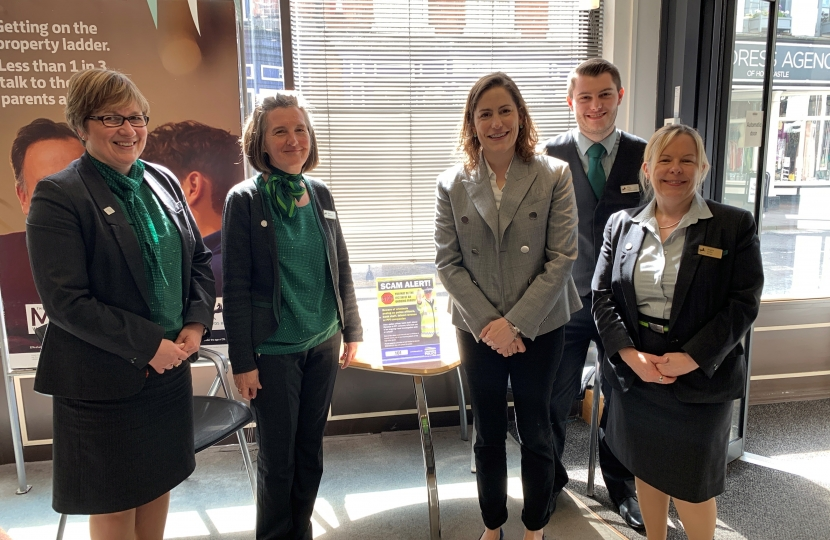 Victoria Atkins MP meets Barclays staff in Horncastle