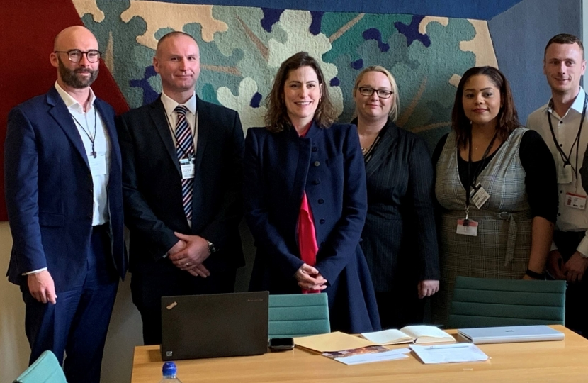 Victoria Atkins MP chairs a broadband summit in parliament