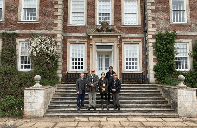 Victoria Atkins MP visits Gunby Hall to discuss conservation and maintenance
