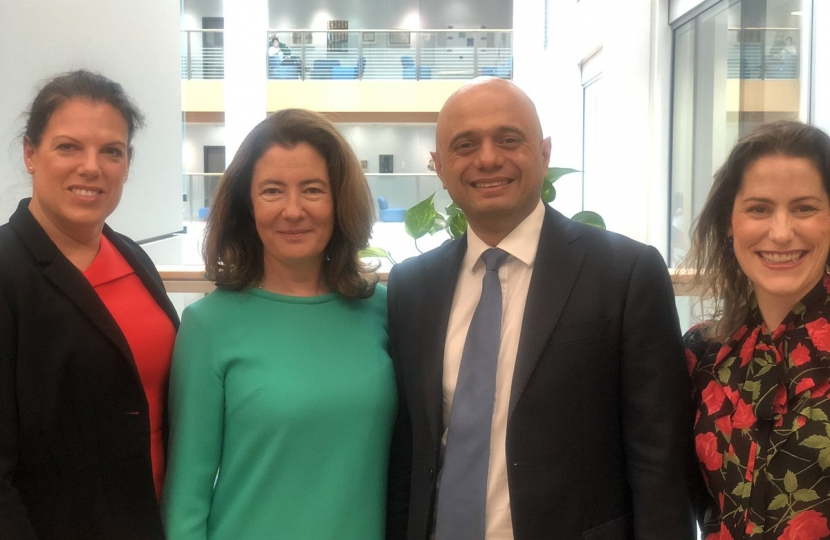 Victoria Atkins MP with Rt Hon Sajid Javid and fellow Home Office supporters