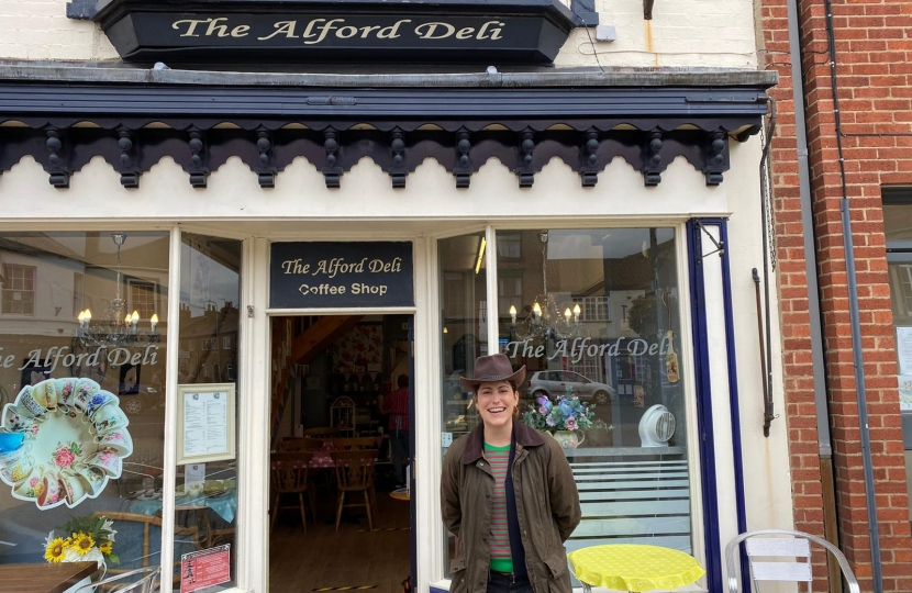 It was great to speak to constituents at the Alford Deli over a cup of tea