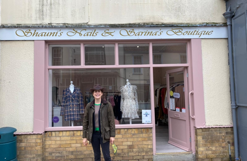 Sarina's Boutique is a great new business that has just opened. Run by a mother and her two daughters- it is a great example of female entrepreneurship